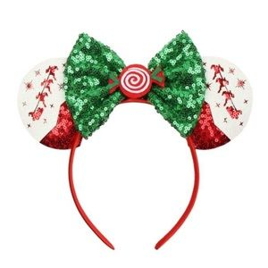 Minnie Mouse Reindeer & Candy Sequin Headband